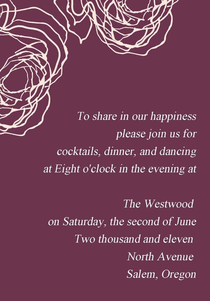 vintage plum rose elegant wedding invitation cards online EWI142 as low as $0.94 |