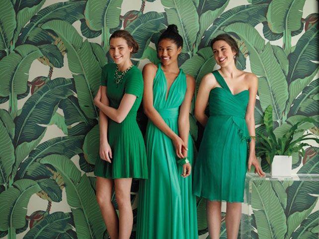 Тренды 2016 года: зеленые листья, пальмы и тропики, подружки невесты в зеленом - The-wedding.ru