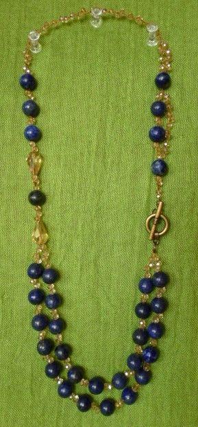 Lapis Lazuli i kryształki szklane szlifowane