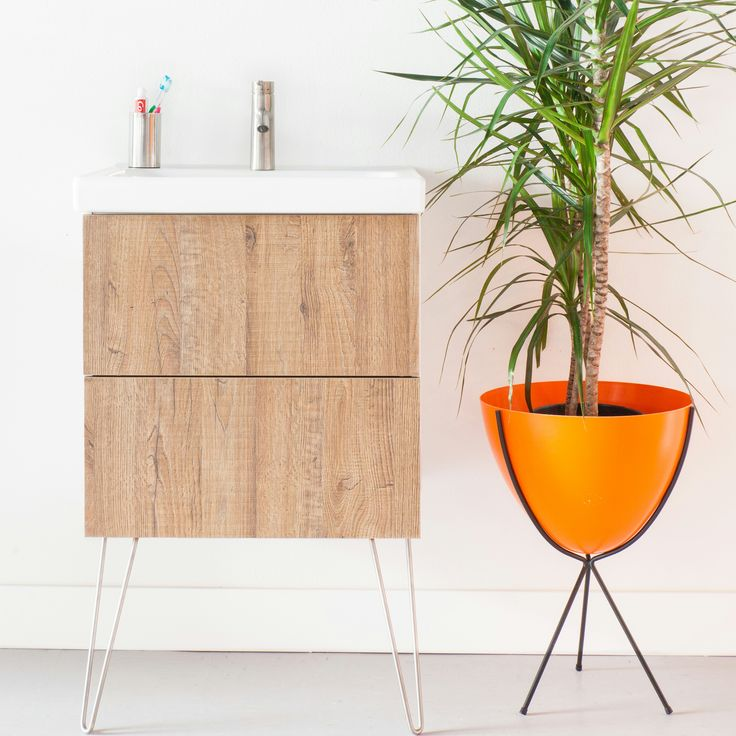 Semihandmade honey ikea godmorgon bath cabinet hairpin for Kinderpool obi