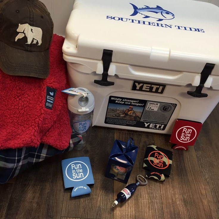 ***The BIGGEST GIVEAWAY EVER at Fun in the Sun!**** YOU could WIN this awesome prize package; a Yeti Cooler (35qt), a plush blanket from Southern Marsh, exclusive ornament and bottle opener from Vineyard Vines and the coveted waxed hat from The Normal Brand!  Just spend $250 in our shops and your name will be entered to win!  The drawing will take place on December 23, 2015!