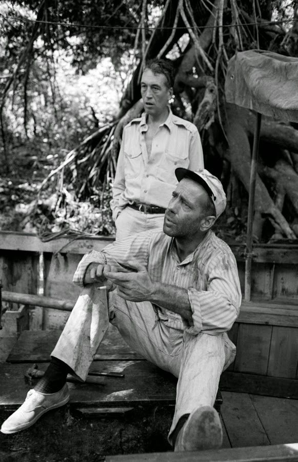 Rare Photos from the Filming of 'The African Queen' -  In 1951, two of the world's most beloved — and highest paid — movie stars, Katharine Hepburn and Humphrey Bogart, followed director John Huston to a most un-Hollywood location: the sweltering jungle around the Ruki River, in the Belgian Congo (today known as the Democratic Republic of the Congo).