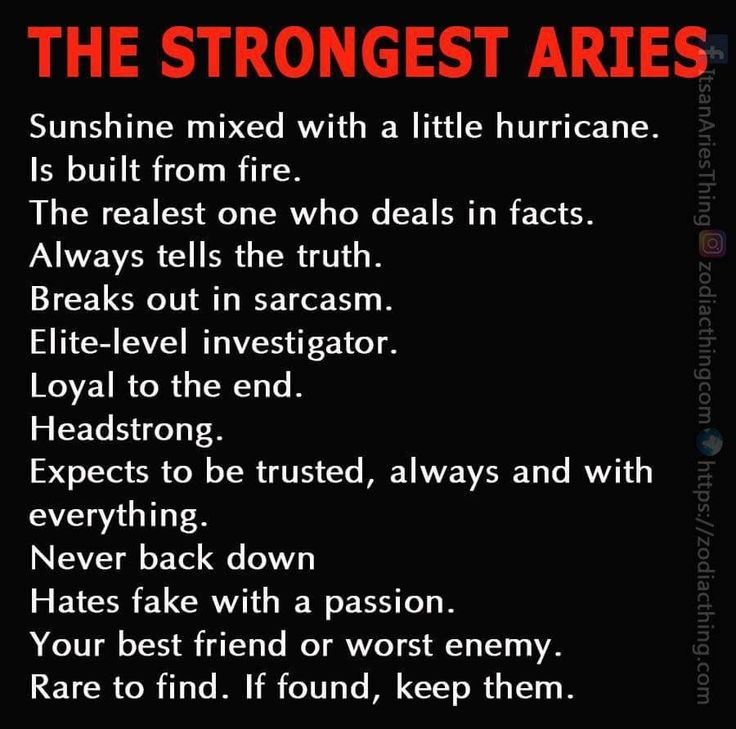 The Strongest Aries
