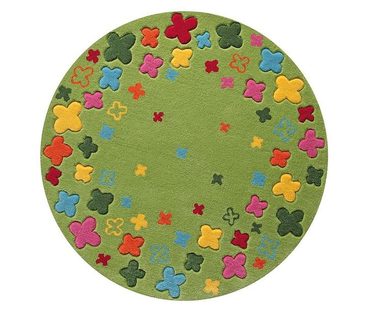 Esprit Kids Bloom Field vihreä 100x100 cm - Esprit Lasten matot - Matto, modernit matot, designer-matot, korkeanukkaiset matot, lasten matot