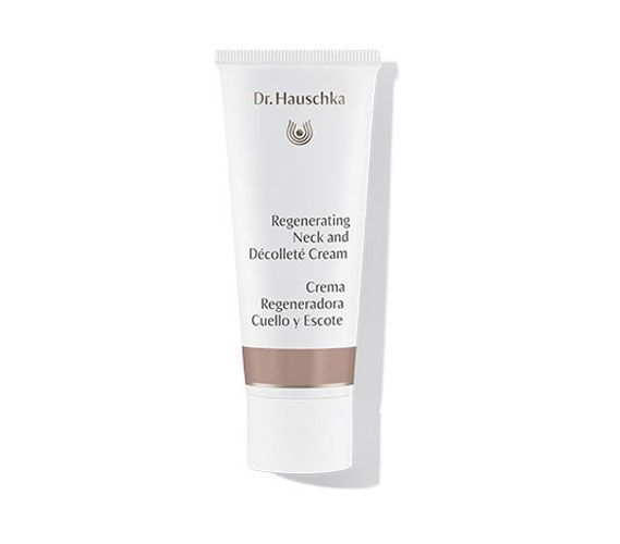 "New Beauty calls out Dr. Hauschka's Regenerating Neck & Decollete Cream in ""The Best in All Natural Skin Care.""  Says Margaret McGriff, ""Skin is not only hydrated but looks younger with the appearance of wrinkles visibly reduced."""