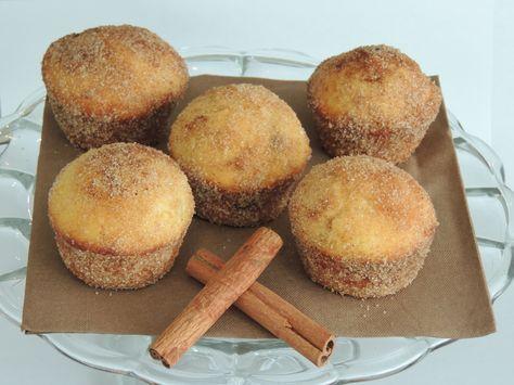 Skořicové muffinky plněné Nutellou •
