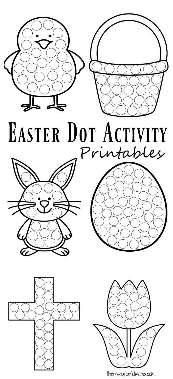 Spring coloring pages dot to dot - Easter Dot Activity Printables