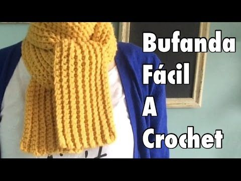 Bufanda colorida corrida, con ganchillo - Cómo hacer una bufanda ( español) - YouTube