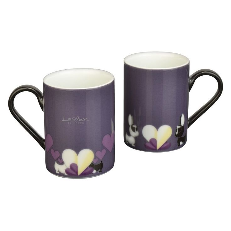 BergHOFF Lover by Lover Purple Coffee Mug - Set of 2 - 3800002