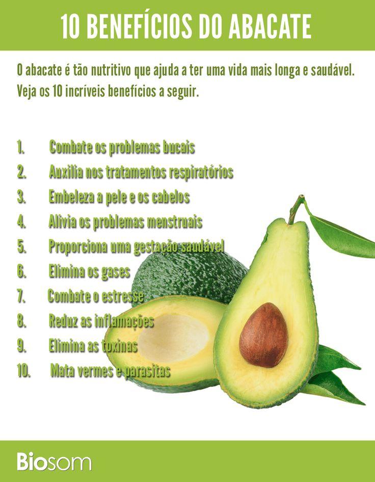 10 Benefícios do abacate para sua saúde infográfico