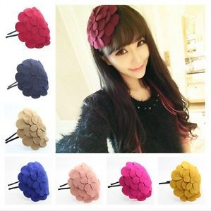 Fashion Women Girls Hair Accessory Big Flower Hair Band Hoop Headband Gift | eBay