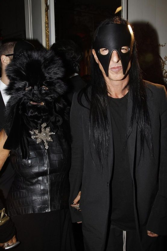 Michelle Lamy and Rick Owens Masked Pinterest