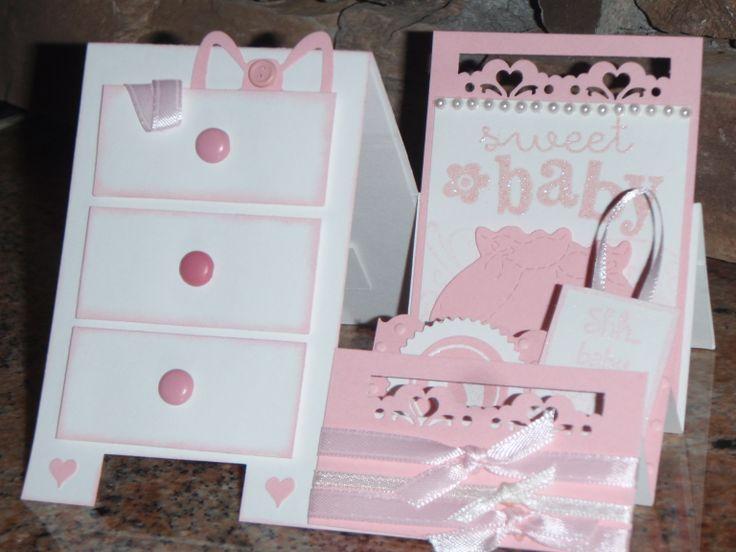 Side Step Dresser card for baby shower