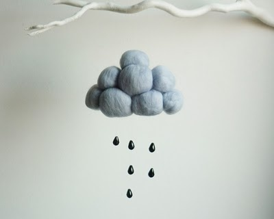 #Felt, #Fieltro felt cloud, nube de fieltro