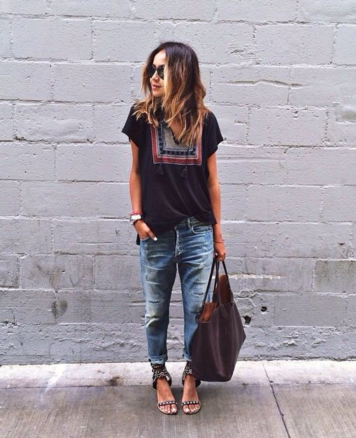 sincerely jules / Instagram August 2014   Slouchy jeans, Isabel Marant sandals