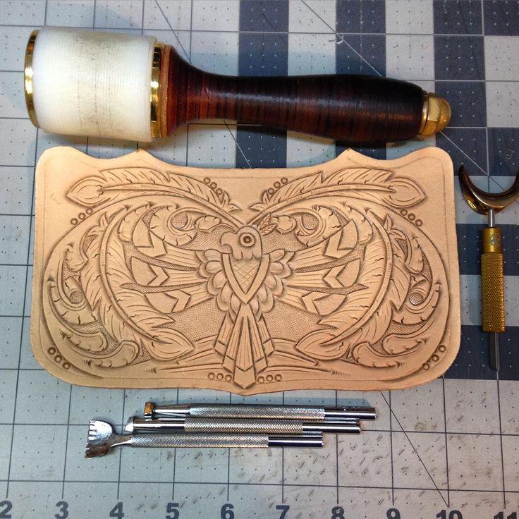 ✌️ #76andriveted #handmade #tooledleather #leathergoods #leatherwallet…