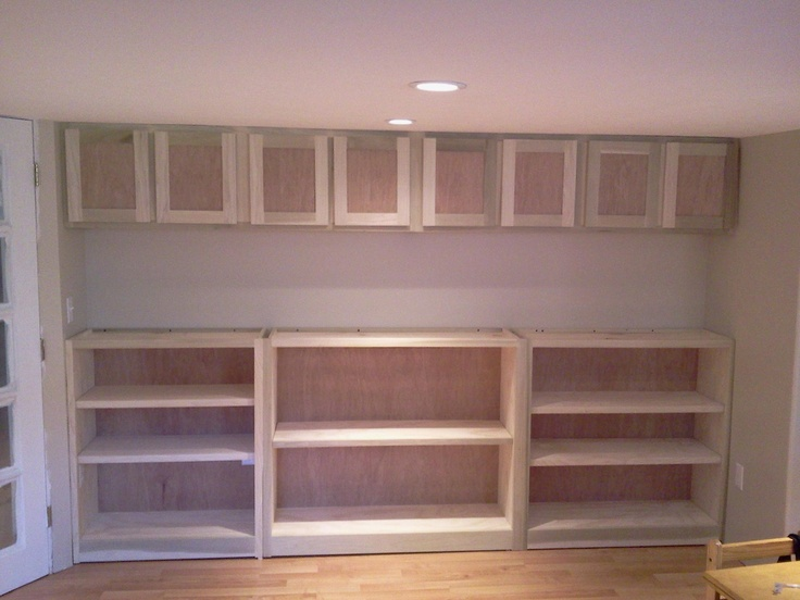 Custom unfinished wall unit for basement entertainment for Appraisal value of unfinished basement