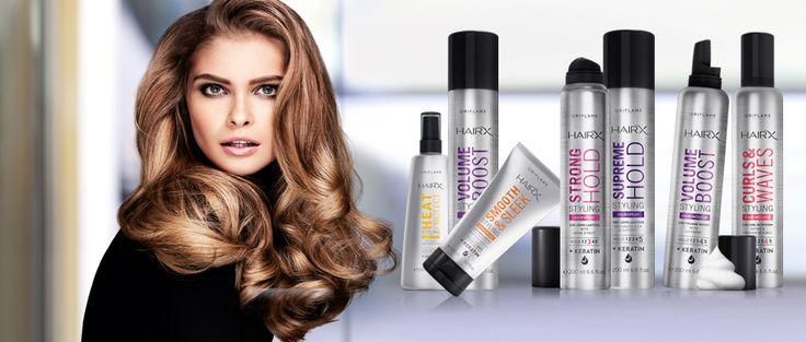 Gama NOVA e MELHORADA, de qualidade profissional, HairX Styling, enriquecida com Queratina.