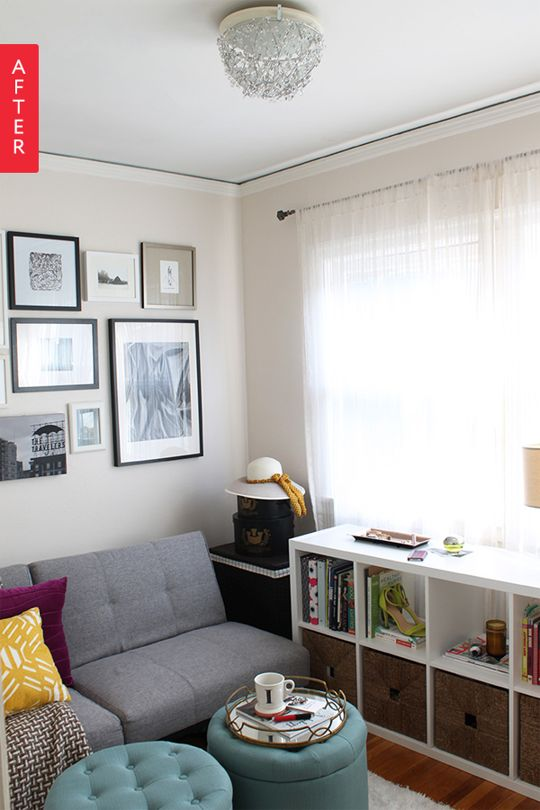 before after a former dumping ground turned inviting guest room - Futon Bedroom Ideas