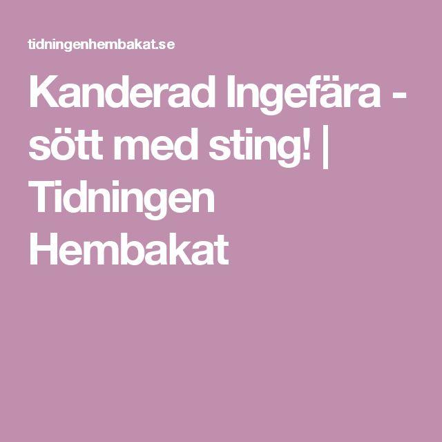 Kanderad Ingefära - sött med sting! | Tidningen Hembakat