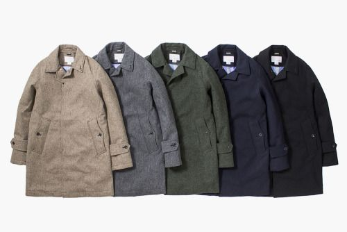 Nanamica Wool/Gore-Tex CoatsAn outstanding delivery from the Japanese brand, blending woolenfabrics with gore-tex linings for that waterproof effect,without compromising looks.