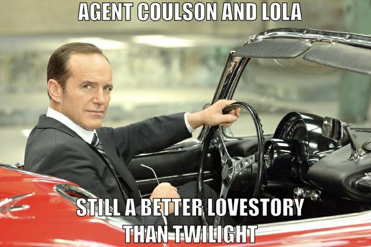 Marvel's Agents of S.H.I.E.L.D. Agent Coulson and Lola - still a better lovestory than Twilight
