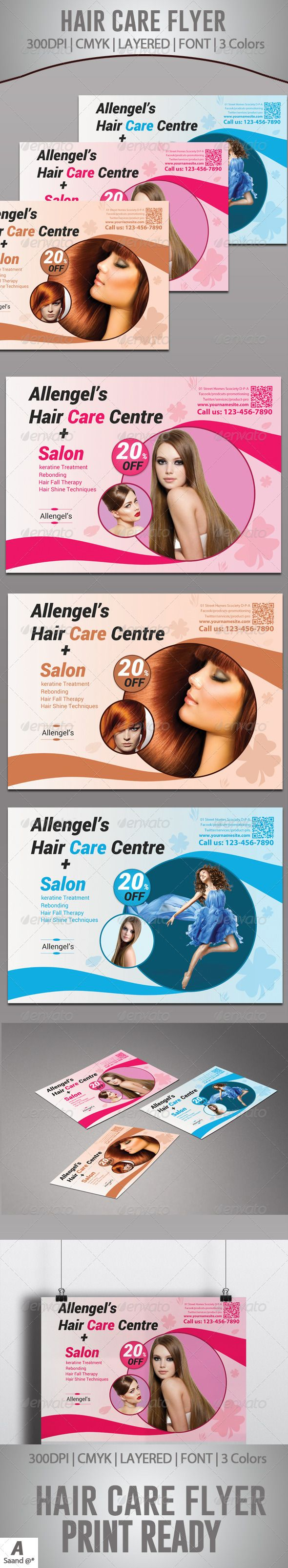 Hair Care Centre Flyer #GraphicRiver Hair Care Centre Flyer Template Fully layered PSD 300 Dpi, CMYK Main file is Completely and fully editable file, print ready Text/Font or Color can be altered as needed Photos are not included in the file Font File: Fonts: .fontsquirrel /fonts/roboto Created: 6 December 13 Graphics Files Included: Photoshop PSD Layered: Yes Minimum Adobe CS Version: CS5 ...