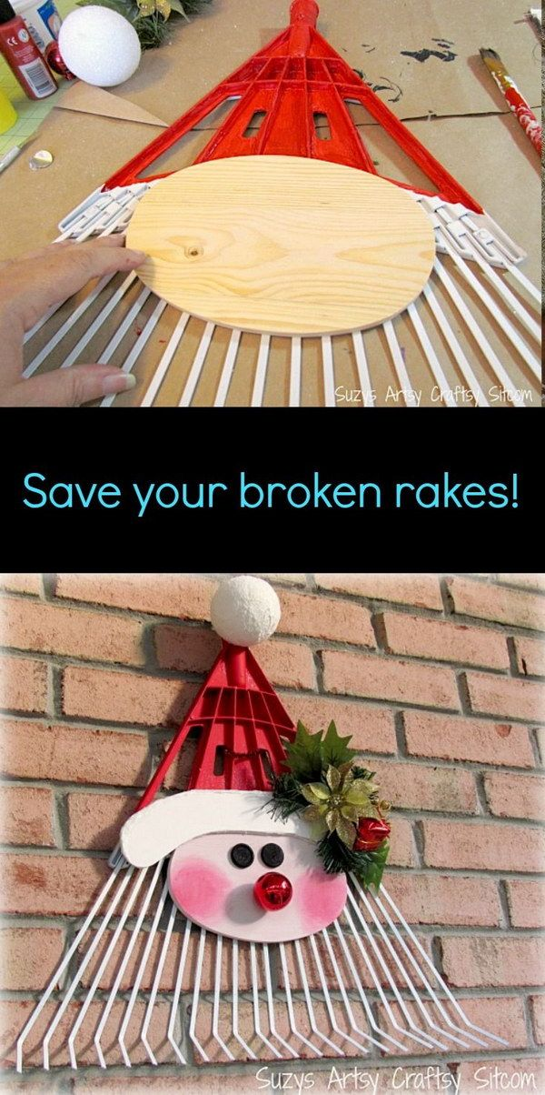 Santa Door Greeter Rake Upcycle