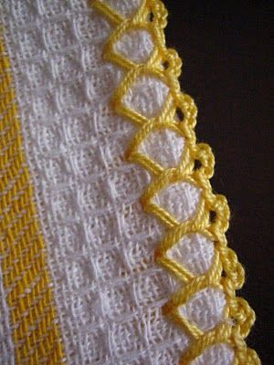tutorial for setting up this kind of crocheted border - direct link (not in English, but some beautiful work)