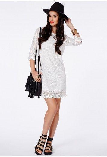 Diahanna Crochet Shift Dress - Dresses - Shift Dresses - Missguided