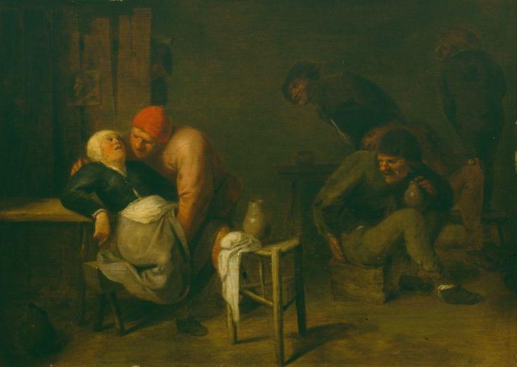 Peasant Inn by Adriaen Brouwer