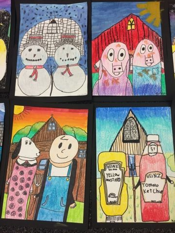 American Gothic Parodies - Jamestown Elementary Art Blog