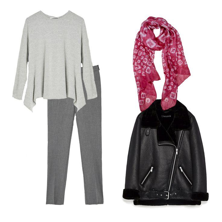 ❤Cazadora y pantalones @Zara, camiseta @hm y el toque que define este