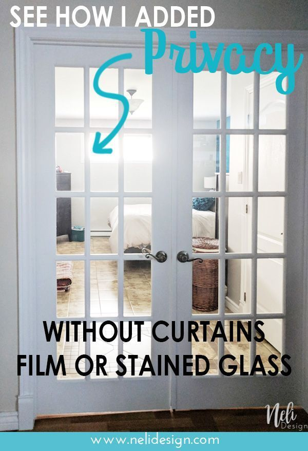 How To Add Privacy To French Doors For Only 13 In 2020 Glass French Doors French Door Coverings French Door Window Treatments