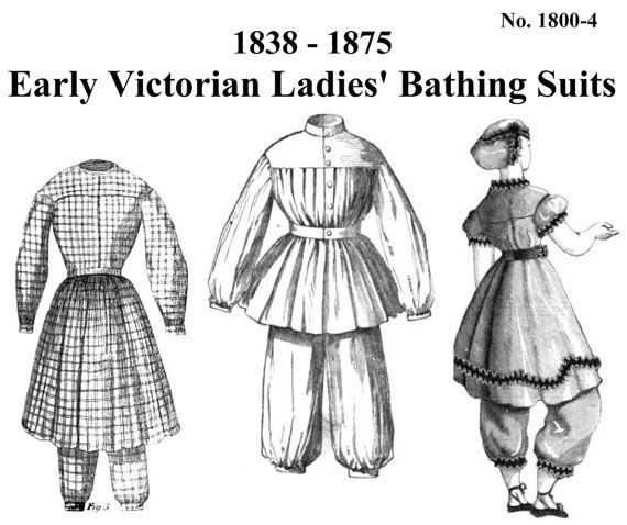Victorian Bathing Suit Pattern: Multi Size by MantuaMakerPatterns