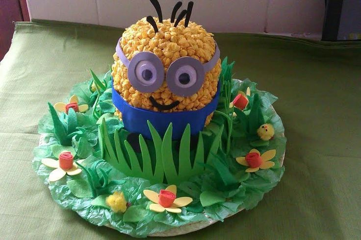 Dispicable Me Minion Handmade Easter Bonnet Hat Girls/Boys