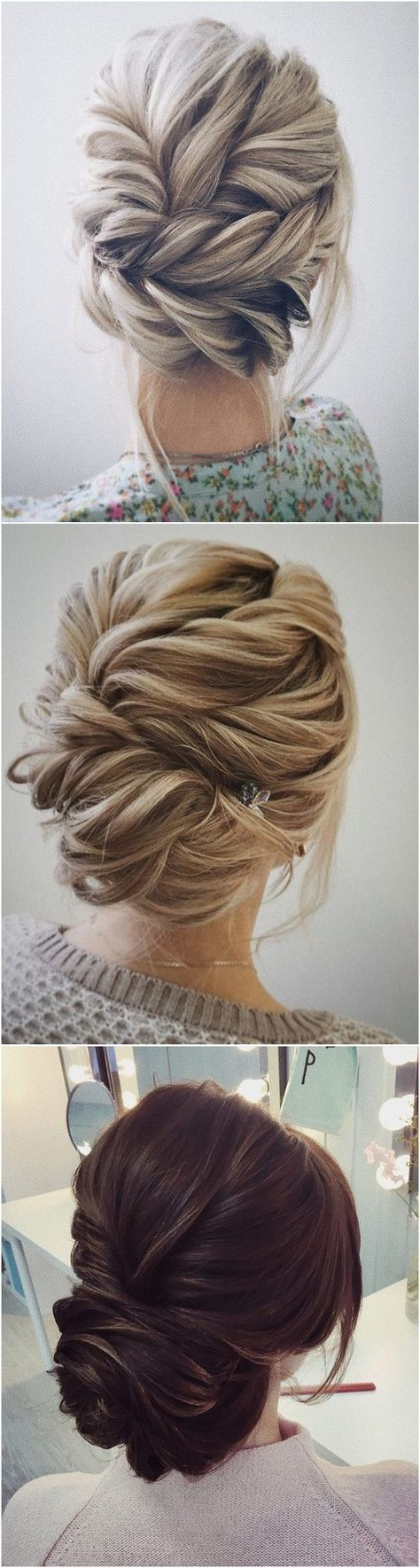 beautiful twisted updo wedding hairstyle ideas