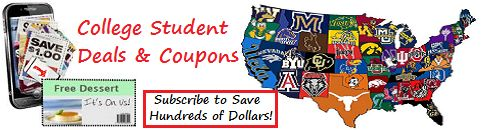 We just added over 40 more colleges and universities to our College Student Discount Program.  Check out the coupon offers!  Terry