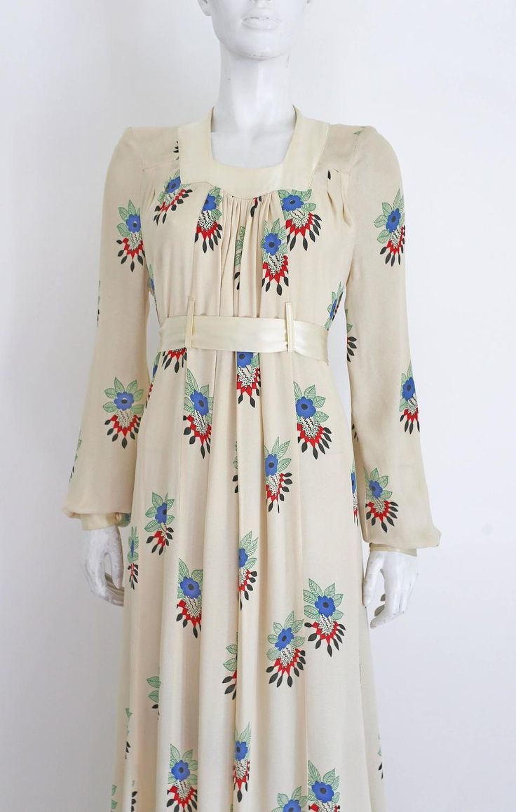 Ossie Clark summer evening dress with Celia Birtwell print, c.1970s For Sale at 1stdibs                                                                                                                                                                                 More