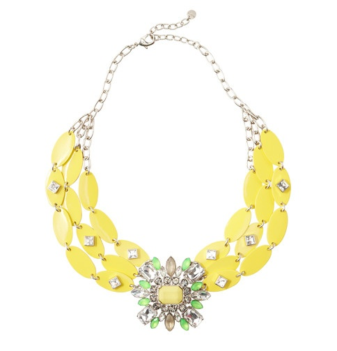 LOFT collection yellow brooch necklace. $69