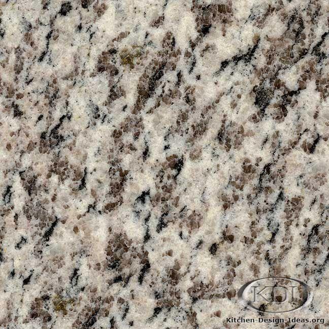 Tiger Skin White Granite  (Kitchen-Design-Ideas.org)