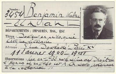 Walter Benjamin's library card, Paris 1940