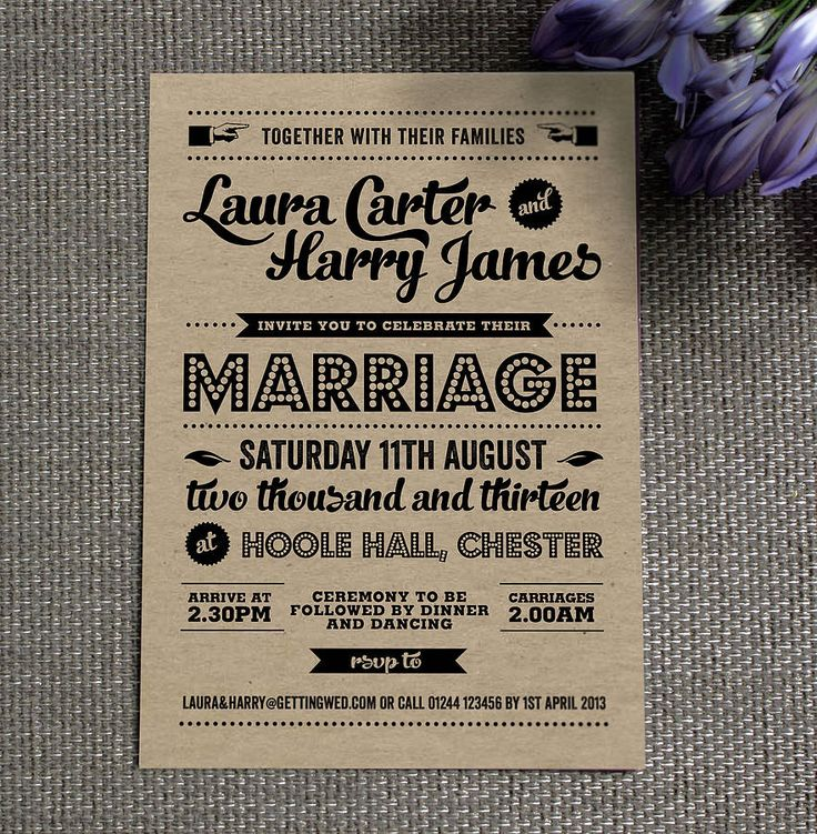 wedding card wordings simple%0A     Creative and Unique Vintage Wedding Invitations