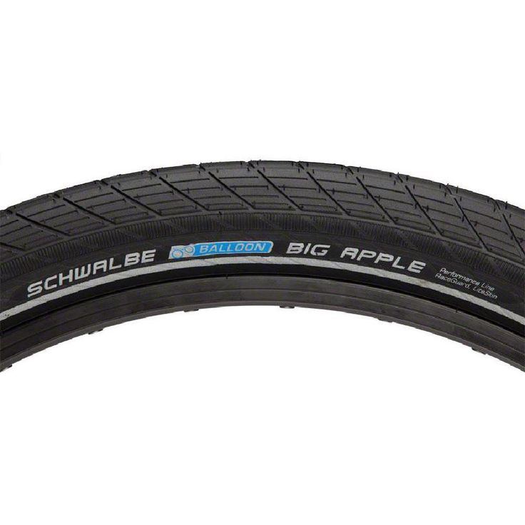 NEW Schwalbe Big Apple Tire 26x2.35 Wire Bead Black with Reflective Sidewall and