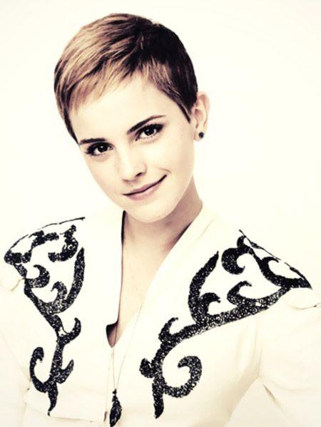 Emma Watson's Very Cute Pixie Cut---I think her hair looks best short..