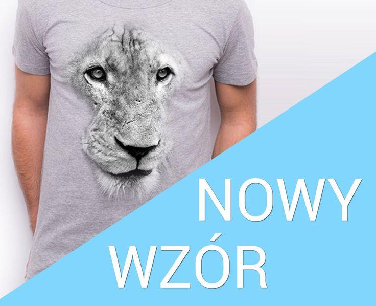 Koszulka męska T-shirt szary z nadrukiem LEW S M L XL