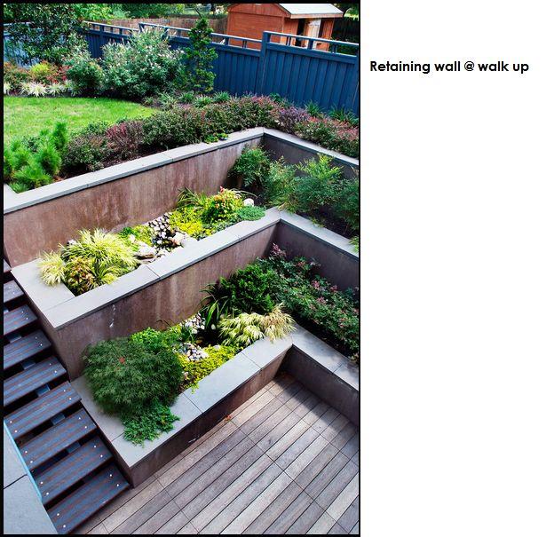 Jardin en pente : 33 idées d\u0027aménagement végétal | Retaining walls Wall ideas and Basements