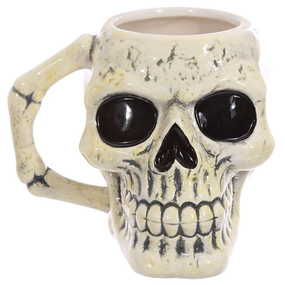 Coffee Mug Fantasy Skull Head Shaped Ceramic Mugs by getgiftideas