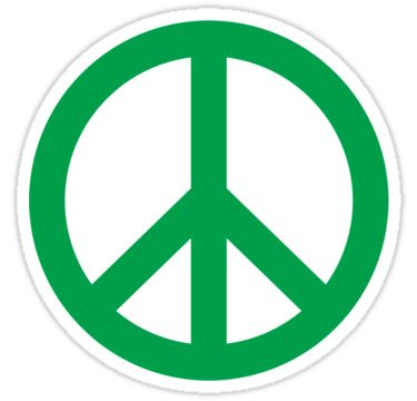 A green peace sign symbol. • Also buy this artwork on stickers, home decor, and bags.