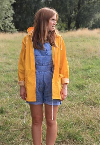 Yellow rain jacket, boyfriend style on Asos Marketplace £28.99 +4.50P&P